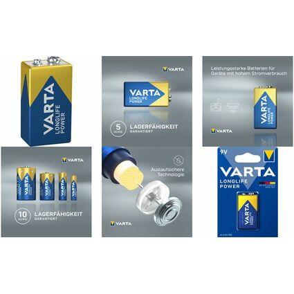 """VARTA Alkaline Batterie """"High Energy"""", E-Block (9V/6LR61)"""