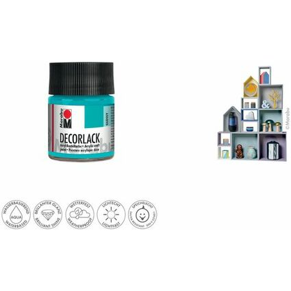 "Marabu Acryllack ""Decorlack"", karminrot, 50 ml, im Glas"