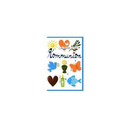 HORN Kommunionskarte - Taube und Kirche, inkl. Umschlag