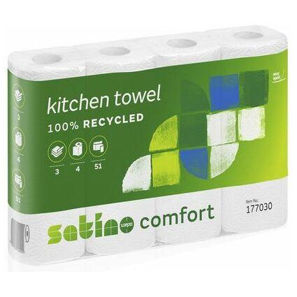 wepa Küchenrolle Comfort, 3-lagig, hochweiß