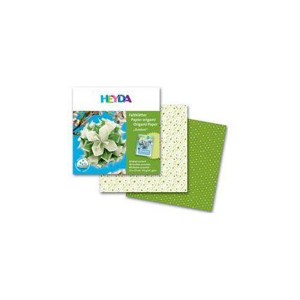"HEYDA Origami Faltblätter ""Outdoor grün"", (B)150 x (H)150 mm"