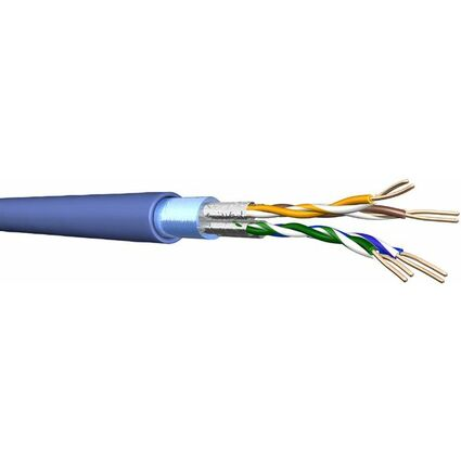 Draka F-FTP Installationskabel 1000 m, Kat.6A, 500 MHz, blau