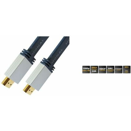 shiverpeaks PROFESSIONAL HDMI Flachkabel, HDMI Stecker -