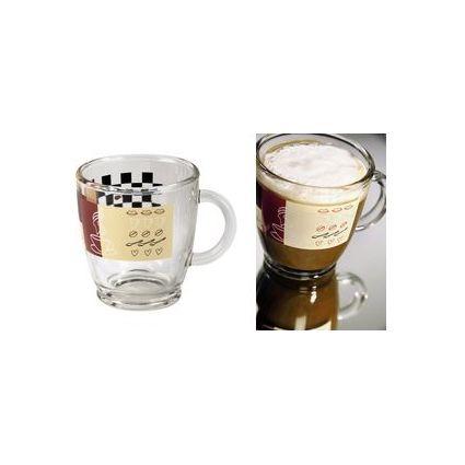 xavax Kaffee-Tasse, aus Glas, 0,38 l, mit Dekor