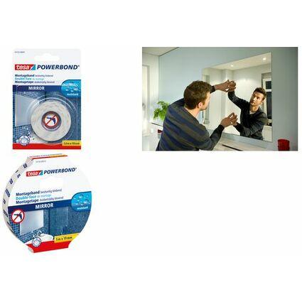 tesa Powerbond Montageband für Spiegel, 38 mm x 5,0 m