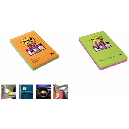 Post-it Haftnotizen Super Sticky Notes, 125 x 200 mm