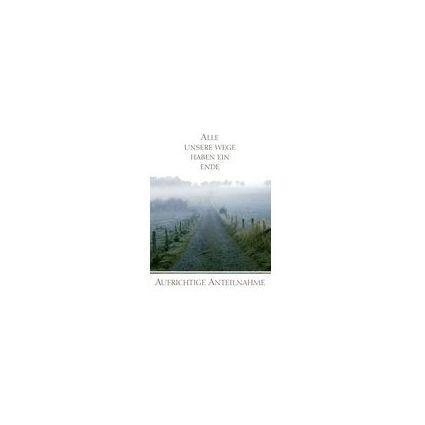 HORN Trauerkarte - Feldweg im Nebel - inkl. Umschlag