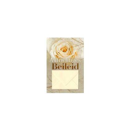 HORN Trauerkarte - Rose in Sepia - inkl. Umschlag