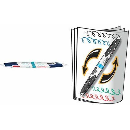 Maped Vierfarb-Kugelschreiber Twin Tip, schwarz/weiß