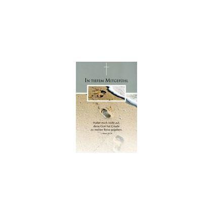 HORN Trauerkarte - Spuren im Sand - inkl. Umschlag