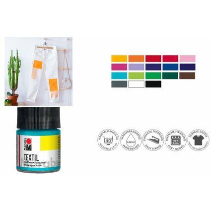 "Marabu Textilfarbe ""Textil"", dunkelblau, 50 ml, im Glas"