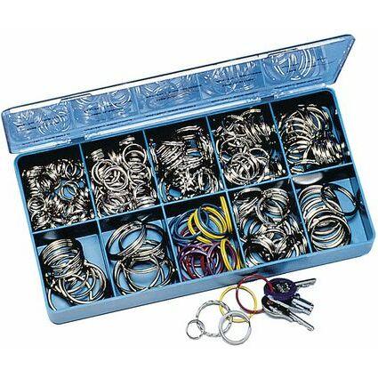 WEDO Metall-Schlüsselringe, 300er Sortimentskasten