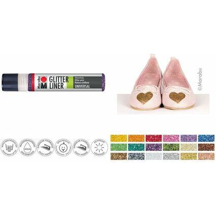 """Marabu Glitzerfarbe """"Glitter-Liner"""", glitter-gelb, 25 ml"""