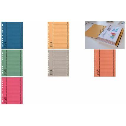 ELBA Trennblätter mit Perforation, DIN A4 Überbreite, orange