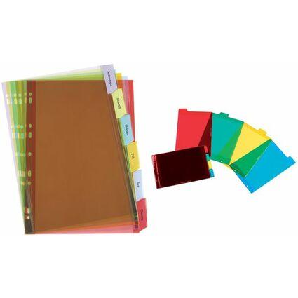 ELBA Kunststoff-Register, blanko, farbig, PVC, A5 quer