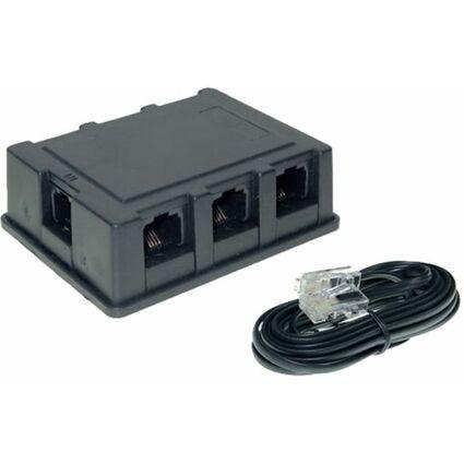 shiverpeaks BASIC-S ISDN Verteilerbox, 3-fach