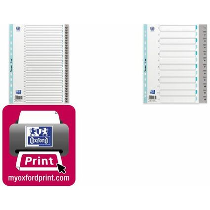 ELBA Kunststoff-Register, Zahlen, DIN A4, grau, 31-teilig
