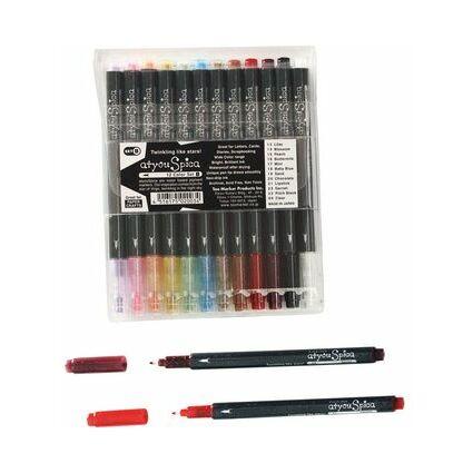 COPIC Glitter Pen Set A, 12er Kunststoffetui
