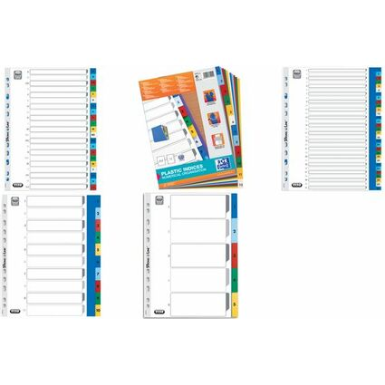 ELBA Kunststoff-Register A4 mit Überbreite, 1-12, 12-teilig
