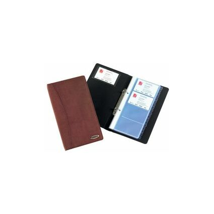 Rexel Visitenkarten-Ringbuch Soft-Touch, schwarz