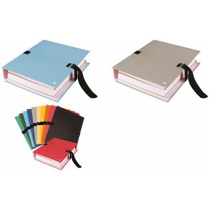 ELBA Dokumentenmappe, DIN A4, PVC-Einband, grau