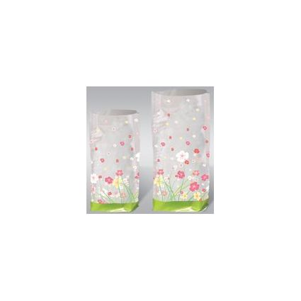 """URSUS Zellglasbeutel """"Blumen"""", Maße: (B)145 x (H)235 mm"""