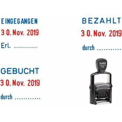 trodat Datumstempel Professional 5430L, blau/rot