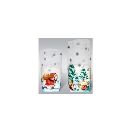 """URSUS Zellglasbeutel """"Weihnachten"""", Maße: (B)115 x (H)190 mm"""