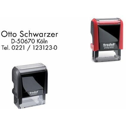 trodat Textstempelautomat Printy 4910 4.0, 3-zeilig, rot