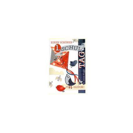 HORN Schulanfangs-Grußkarte - Schulmaus - inkl. Umschlag