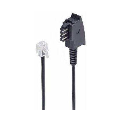 shiverpeaks BASIC-S Telefonkabel, schwarz, 6,0 m