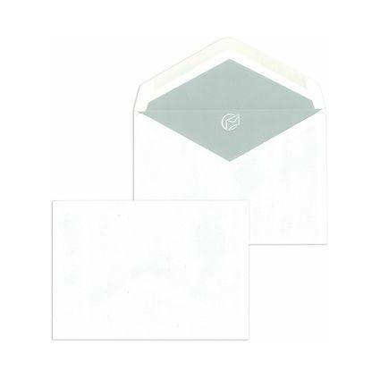 MAILmedia Briefumschläge C6 naßklebend, ohne Fenster, weiß