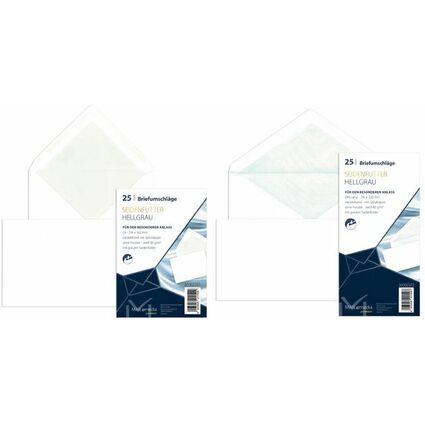 MAILmedia Briefumschlag Offset weiß mit Seidenfutter, D lang