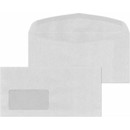 MAILmedia Briefumschläge C6/5 naßklebend, mit Fenster