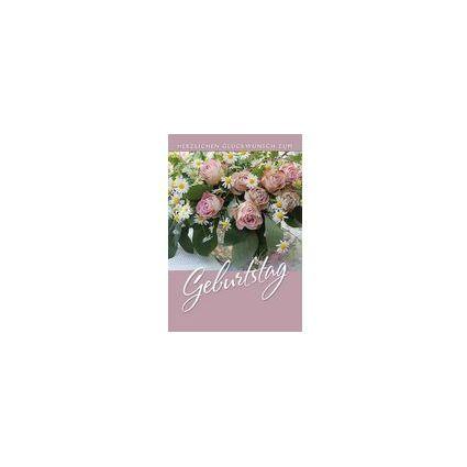 HORN Geburtstagskarte - Abstrakte Blumen - inkl. Umschlag