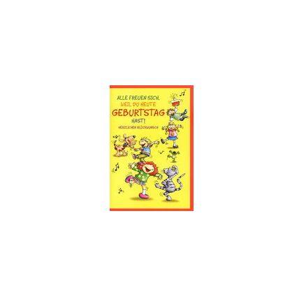 HORN Kinder-Geburtstagskarte - Farbige Illustration -