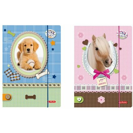"""herlitz Zeichnungsmappe """"Pretty Pets"""", DIN A4"""