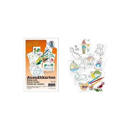 URSUS Ausnähkarten, weiß, 110 x 170 mm, 10 Blatt