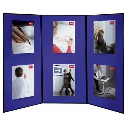 nobo Showboard Extra, mit 4 Präsentationsflächen, blau