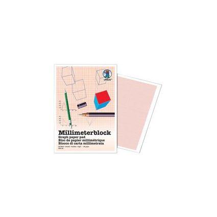 URSUS Millimeterpapier-Block, DIN A3, 80 g/qm, 25 Blatt