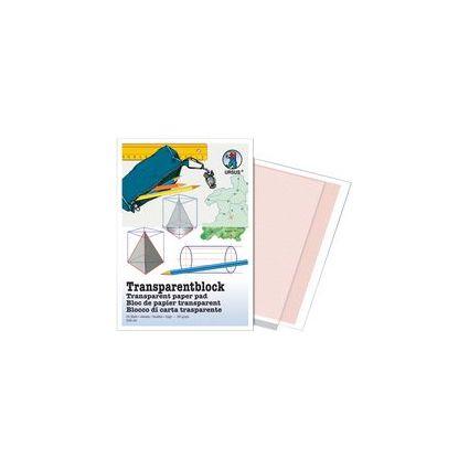 URSUS Transparentpapier-Block, DIN A3, 65 g/qm, 25 Blatt