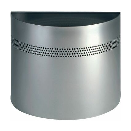 DURABLE Papierkorb HALBRUND, 20 Liter, metallic silber