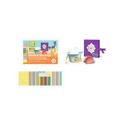 """URSUS Fotokarton-Bastelblock """"Mini Designs"""", 300 g/qm"""