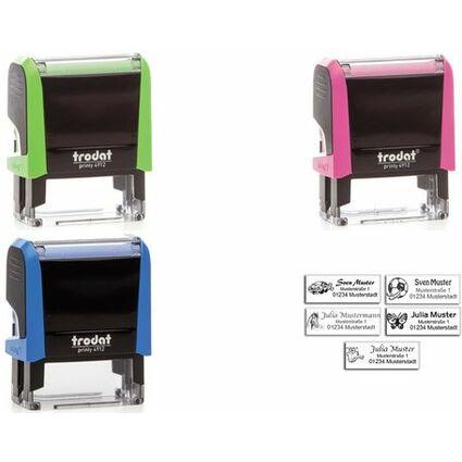 trodat Kinder Adress-Stempelautomat Printy 4912 4.0, grün