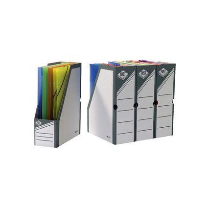 FAST Archiv-Stehsammler, aus Karton, weiß / grau,