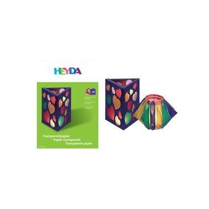 HEYDA Transparentpapier-Bastelmappe, DIN A4, 42 g/qm