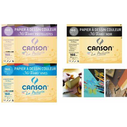 CANSON Künstlerpapier Mi-Teintes, DIN A3, leuchtende Farben