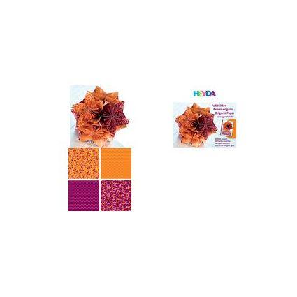 HEYDA Origami Faltblätter, (B)150 x (H)150 mm,orange/violett