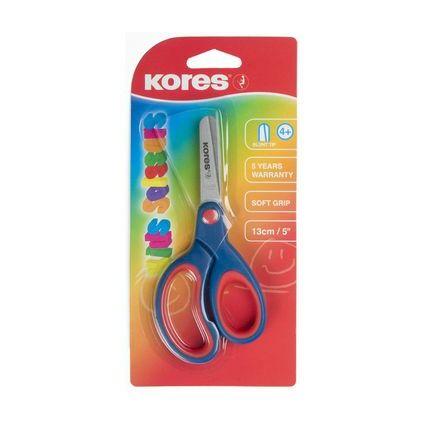 Kores Bastelschere mit Softgrip-Griff, rund, Länge: 130 mm