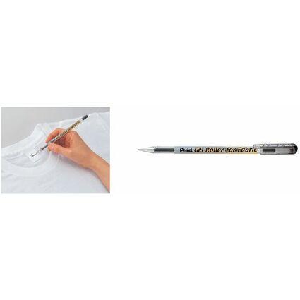 Pentel Textil Gel-Tintenroller BN15, schwarz